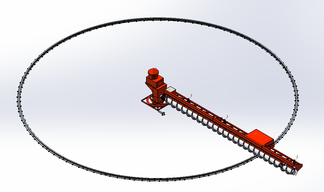 The track-type clearing machine